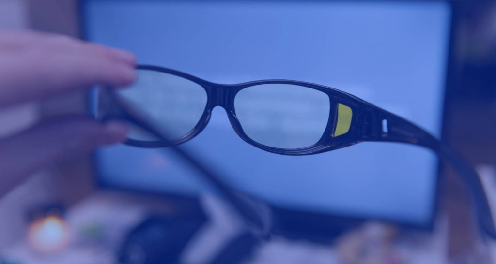 occhiali luce blu lente trasparente