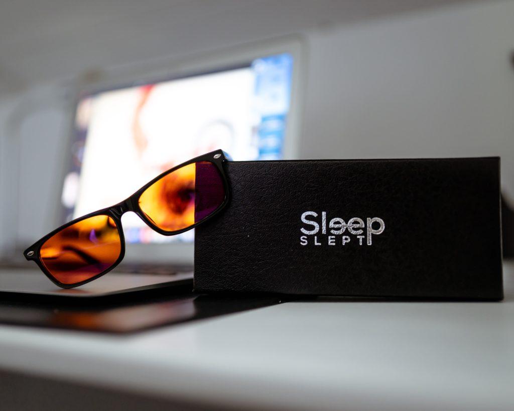 occhiali luce blu sleep slept