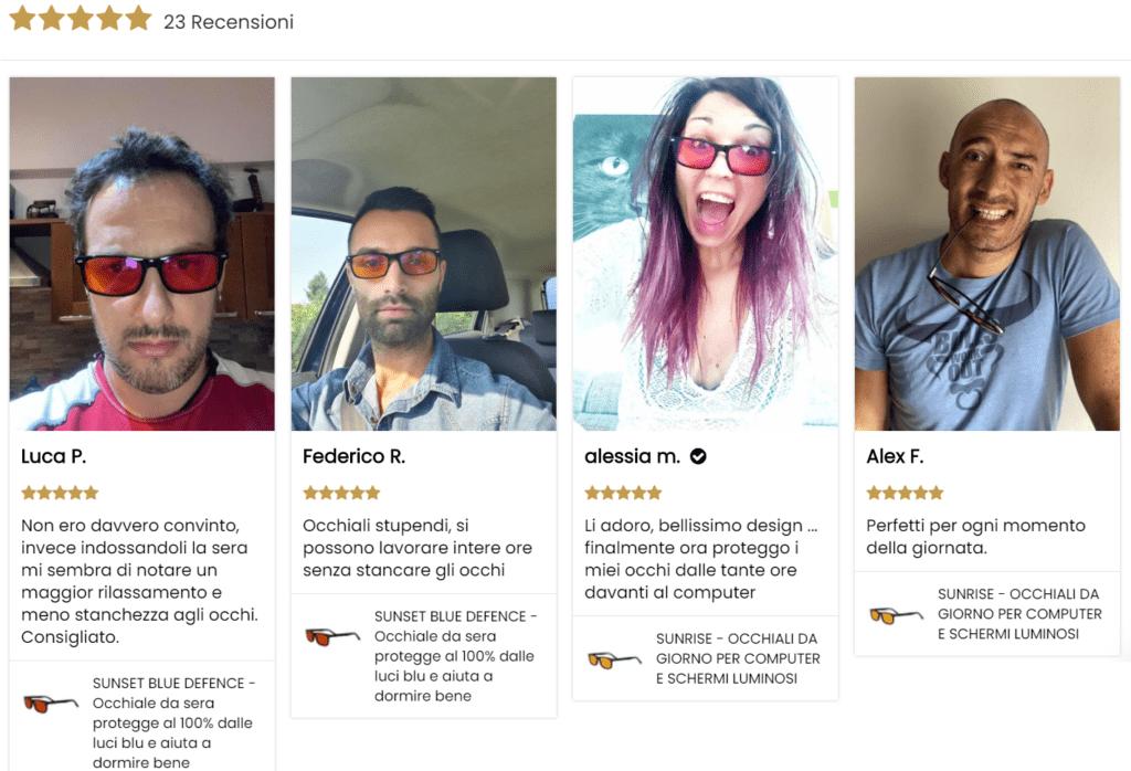 recensioni mik cosentino occhiali